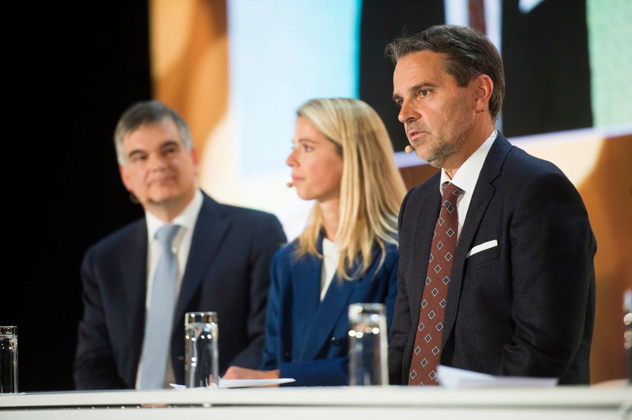 Au premier plan, Marc Muller, le président de la CNPSES. (Photo: Anthony Dehez)