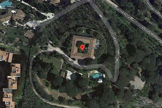 La justice belge s'intéresse aux conditions d'acquisition de La Mandala par l'homme d'affaires Bernard Tapie et au rôle joué par l'ancien vice-président du Standard de Liège, Lucien D'Onofrio. (Illustration: Capture d'écran/Google Maps)