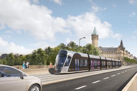 Le chantier est dans les temps et le tram roulera bien de la place de l'Étoile à la gare centrale en décembre 2020. (Photo: Luxtram)