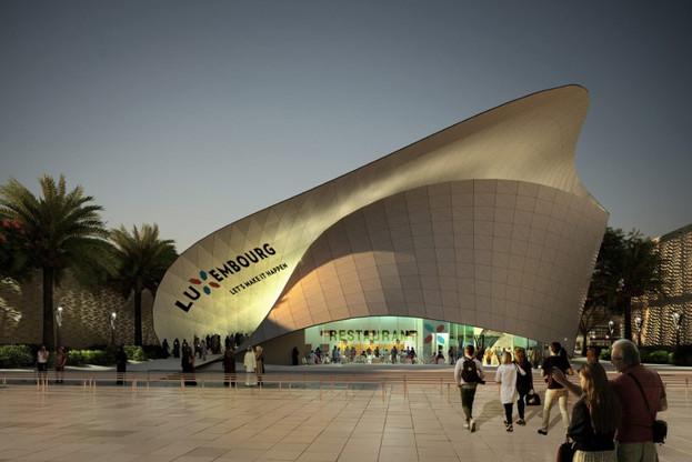 Imaginé par l'architecte Shahram Agaajani, le pavillon luxembourgeois s'inspire du ruban de Möbius et devra être la vitrine du Luxembourg pendant l'exposition universelle à Dubaï. (Photo: Metaform)