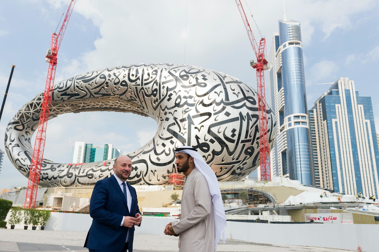 Ici avec Khalfan Belhoul, CEO de la Dubai Future Foundation, l'ex-vice-Premier ministre et ministre de l'Économie, Étienne Schneider, avait annoncé la participation du Luxembourg dès juin 2016. (Photo: archives SIP)