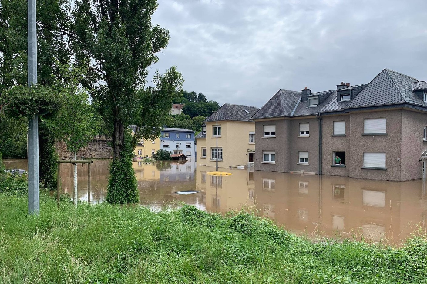 A view of a residential area in Echternach town, 15 July 2021. Photo: Lisa Grisius