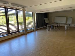 La grande salle de réunion, que des entreprises ou des groupes utilisent régulièrement. ((Photo: Paperjam))