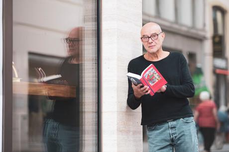 L'acteur SteveKarier, la voix luxembourgeoise des livres audio HarryPotter. (Photo: Jan Hanrion/Maison Moderne)
