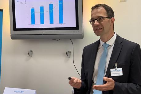 La croissance de Luxtrust s'accélère, a indiqué son CEO, Pascal Rogiest, à l'occasion de la présentation des résultats annuels de 2018. (Photo: Paperjam)