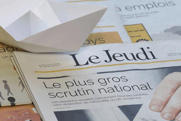 Le Jeudi était crédité de26.700lecteurs, selon la dernière étudeTNS Ilres Plurimedia. (Photo: Le Jeudi / Facebook)