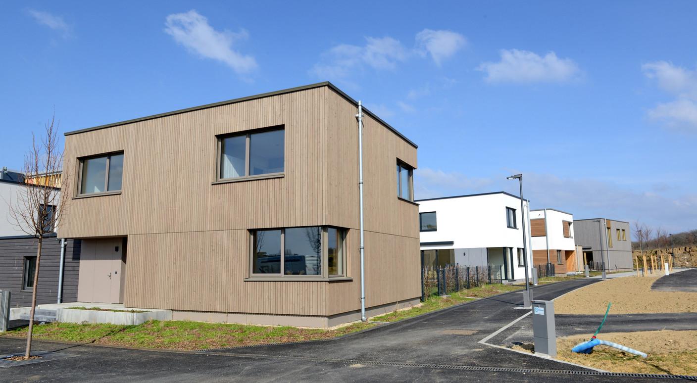 View of one of the show houses built in Elmen (Photo: Mediatheque Commune de Kehlen - Raymond Faber)