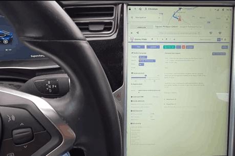 Un million de propriétaires de Tesla pourront tester les fonctionnalités de la start-up luxembourgeoise dans leur voiture… mais pas au volant, recommande EmailTree. (Photo: EmailTree)