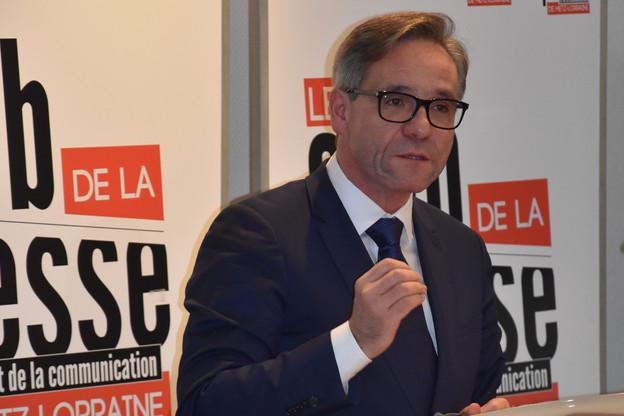 EmmanuelLebeau a déclaré sa candidature au Club de la presse de Metz, vendredi 8 novembre. (Photo: DR)