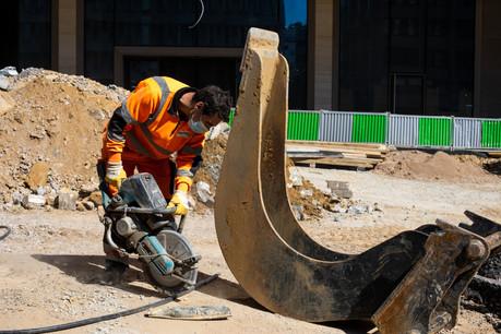 La construction figure parmi les rares secteurs ayant vu leur emploi salarié progresser au deuxième trimestre. (Photo: Matic Zorman/Maison Moderne)