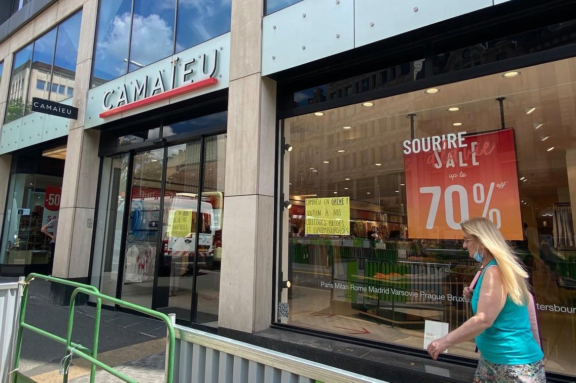 Ce lundi, les salariés de Camaïeu au Luxembourg et en Belgique se sont mis en grève face à l'incertitude qui entoure le redressement judiciaire, annoncé le 26 mai. (Photo: Paperjam)