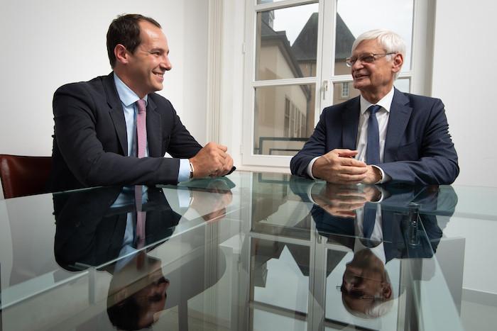 Jean Ciszewicz, à gauche, et Jean Noël Lequeue, à droite, les deux gérants de Phoenix Solutions Luxembourg. Crédit : Phoenix Solutions
