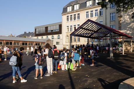 Ce sont 216élèves et 26enseignants qui ont fait leur rentrée à l'école Bonnevoie-Verger ce mardi 15 septembre. (Photo: Romain Gamba / Maison Moderne)
