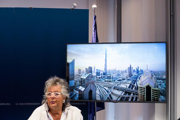 Maggy Nagel souligne son exploit d'avoir maintenu le surcoût lié au Covid-19 dans l'enveloppe initiale de 32 millions d'euros. (Photo : Matic Zorman / Maison Moderne)