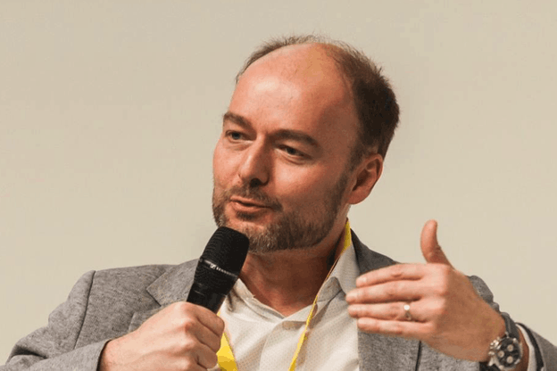 """Olivier Debeugny:""""When I was a student, I would only picture myself as an entrepreneur, starting to work in a small- to mid-size company."""" (Photo: Lingua Custodia)"""