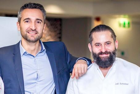Yves Florentin, country sales & business development director chez Elior Luxembourg et le chef Joël Schreiner. (Photo: Olaf Maria Stephan Zierz)