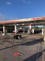 Trois stations-service de Bascharage ont subi de lourds dégâts après le passage de la tornade. ((Photo: Bonaria Frères))