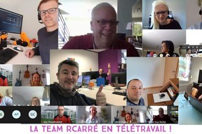 L'équipe Rcarré en #workingfromhome. ((Photo: Facebook/Rcarré))