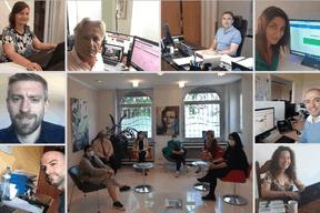 L'équipe de Fortuna Banque en #workingfromhome. ((Photo: Linkedin/Fortuna Banque))