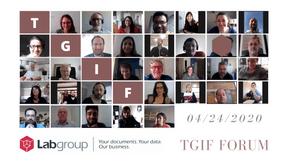 L'équipe de Labgroup lors d'une réunion #TGIF. ((Photo: Labgroup))
