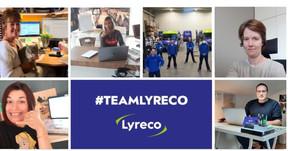 La team Lyreco, en télétravail pour la plupart. ((Photo: Lyreco))