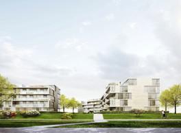 Vue des résidences conçues par Petitdidierprioux et construites par Tralux Immobilier. ((Illustration: Petitdidierprioux))