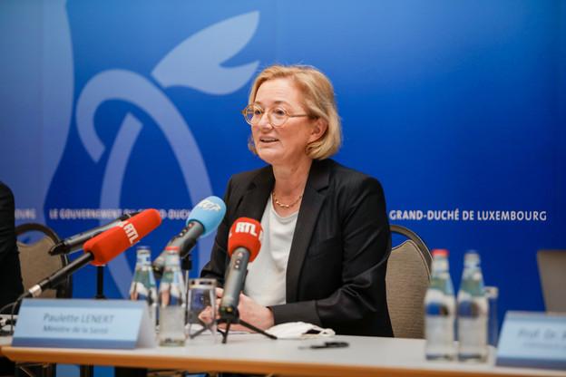 L'équivalent de 10% de la population luxembourgeoise est testée chaque jour, ce qui permet de mieux contrôler l'épidémie, a expliqué la ministre de la Santé, Paulette Lenert (LSAP). (Photo: Romain Gamba / Maison Moderne)