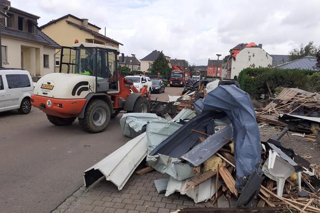 Le nombre de demandes d'intervention suite à la tornade de ce vendredi 9 août a «sensiblement augmenté» dans la journée de dimanche, selon le gouvernement. (Photo: Paperjam)