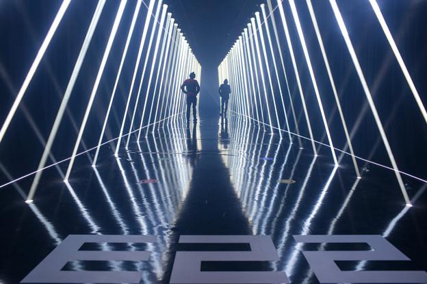 Une installation lumineuse et sonore signée BattleRoyal et DanyLucas inaugurait la présentation du teaser d'Esch2022. (Photo: Matic Zorman/Maison Moderne)