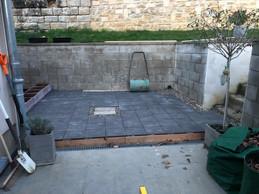 La terrasse de Luis Faustino pendant sa construction. ((Photo: Luis Faustino))