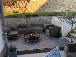 La terrasse terminée, prête à être utilisée par temps chaud (et plus froid). ((Photo: Luis Faustino))