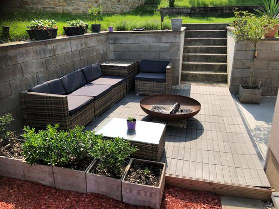 Luis Faustino a construit lui-même une nouvelle terrasse dans son jardin l'année dernière. (Photo: Luis Faustino)
