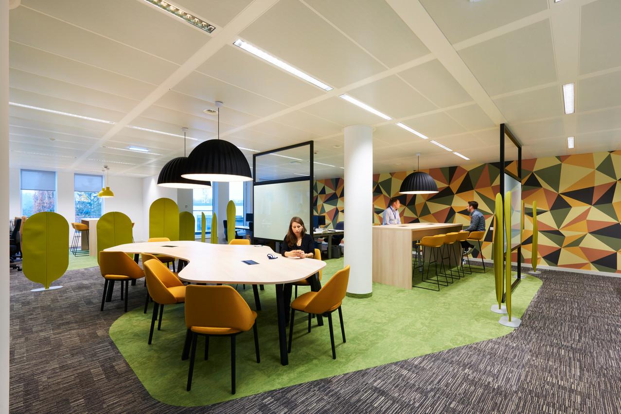 Les nouveaux bureaux d'AXA Lux, premiers aménagements des espaces de bureaux post-COVID. (Photo: C&W Design+Build)