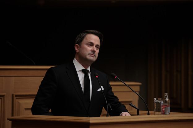 Le discours du Premier ministre XavierBettel sera suivi, le lendemain, d'un débat à la Chambre des députés. (Photo: Matic Zorman / Maison Moderne)