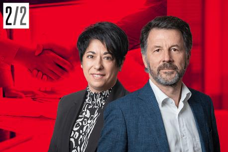 Sandra Claro et Marc Lamesch, Associés au sein de BDO à Luxembourg, un des leaders du BSO (Business Services & Outsourcing). Crédit: BDO, montage photo Maison Moderne