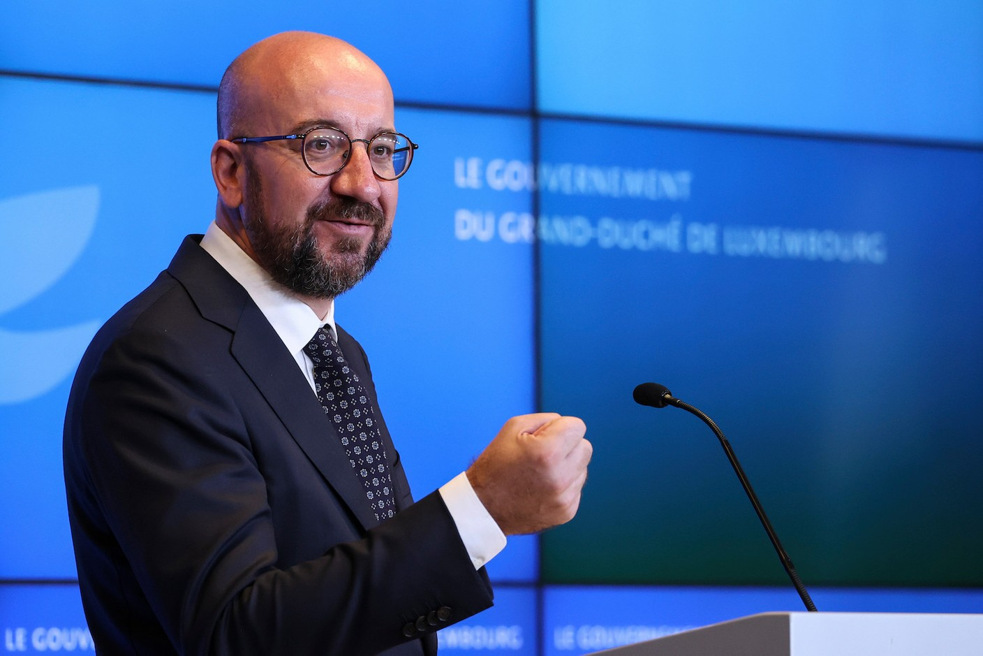 EU Council president Charles Michel during the press conference on 16 September Photo: European Union