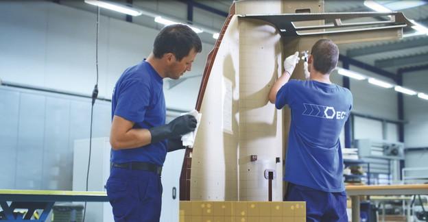 Euro-Composites estspécialisée dans la production de panneaux et pièces en matériaux composites ultralégers pour les secteurs aéronautique, spatial, ferroviaire et maritime. (Photo: Euro-Composites)