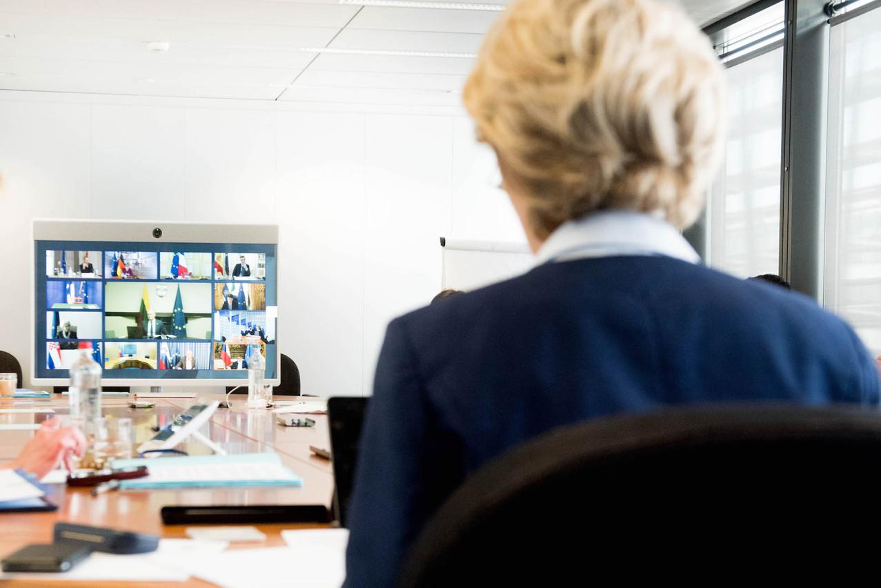 Ursula von der Leyen, présidente de la Commission européenne, a promis de faire une proposition dans «la deuxième ou la troisième semaine de mai» pour un fonds de relance.  (Photo: Commission européenne)