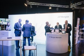 Stand J.P Morgan ((Photo: Marion Dessard))