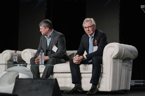 James Dening (Automation Anywhere) et Jan Sturesson (Resting - Advise from the future) ((Photo: Marion Dessard))