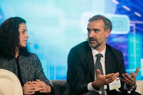Mara Shreck (JP Morgan) et Serge Weyland (Alfi) ((Photo: Matic Zorman))