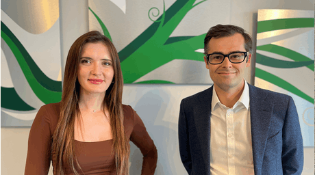 Angelica Ciorba, Senior Consultant, and Alexandre Bodin, Manager at Avantage Reply Luxembourg. Avantage Reply Luxembourg