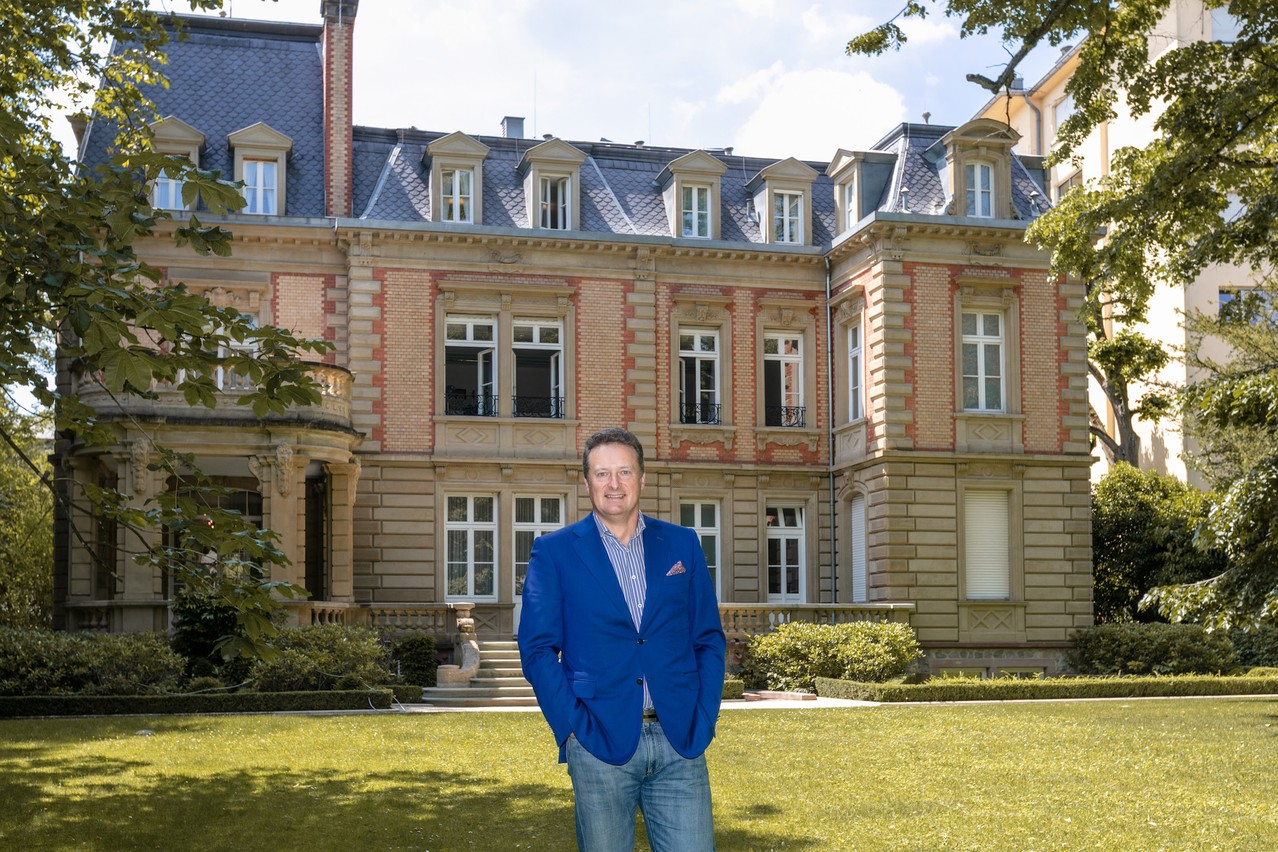 East-West United Bank CEO SergeyPchelintsev pictured near the back entrance of the Villa Foch Romain Gamba/Maison Moderne