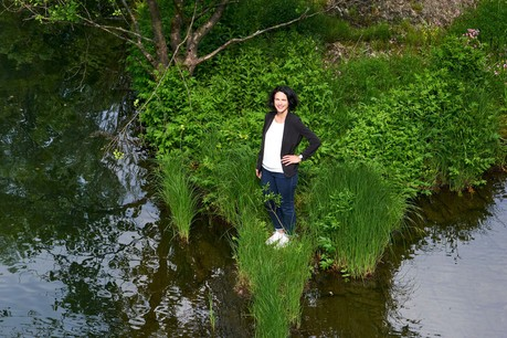 Coordinatrice du projet Waterwalls, Séverine Zimmer regrette l'excès de contraintes environnementales pour un projet culturel. (Photo: Andrés Lejona/Maison Moderne)