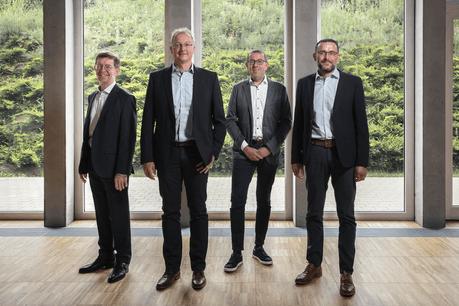 De gauche à droite: André Lavandier, Tom Schaeffer, Roby Eischen, Fränk Thill Crédit: Maison Moderne
