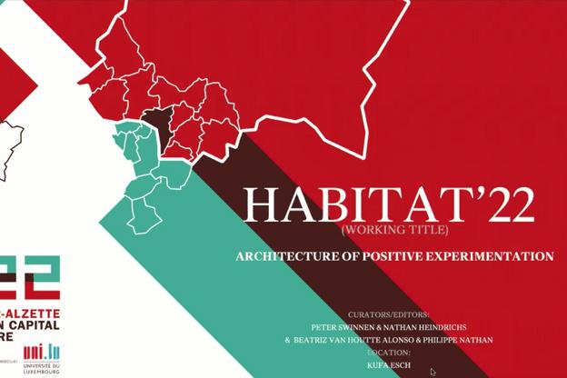 Peter Swinnen a présenté le projet d'exposition «Habitat'22», qui sera programmée dans le cadre d'Esch2022. (Photo: Esch2022-Peter Swinnen)