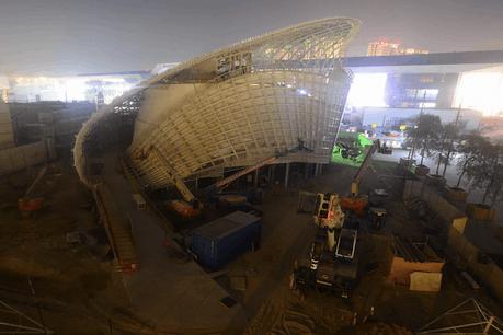 La construction du pavillon luxembourgeois pour l'Exposition universelle Dubaï 2020 avance de jour en jour. (Photo: Capture d'écran)