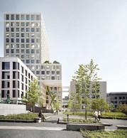 En octobre 2018, c'est l'équipe de Christian Bauer & Associés Architectes, en partenariat avec Baumschlager Eberle, qui a avait remporté le concours d'architecture pour l'extension du centre hospitalier. ((Photo:Baumschlager Eberle + Christian Bauer & Associés Architectes))