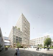 L'investissement, à la charge du Fonds hospitalier, s'élève à 148,5 millions d'euros. ((Photo:Baumschlager Eberle + Christian Bauer & Associés Architectes))