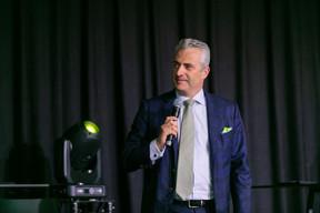 Olivier Coekelbergs, country managing partner chez EY, a rappelé aux «new joiners» la particularité de la place financière luxembourgeoise. (Romain Gamba / Maison Moderne)